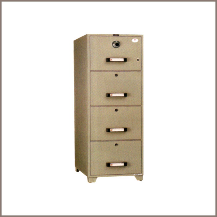 TB4C-4D: 515Wx787Dx1551H,NET WT. : 330 Kgs. CAPACITY : 268 Liters ACCESSORIES : 4 Drawers JIS FIRE RATING : 1 Hrs.