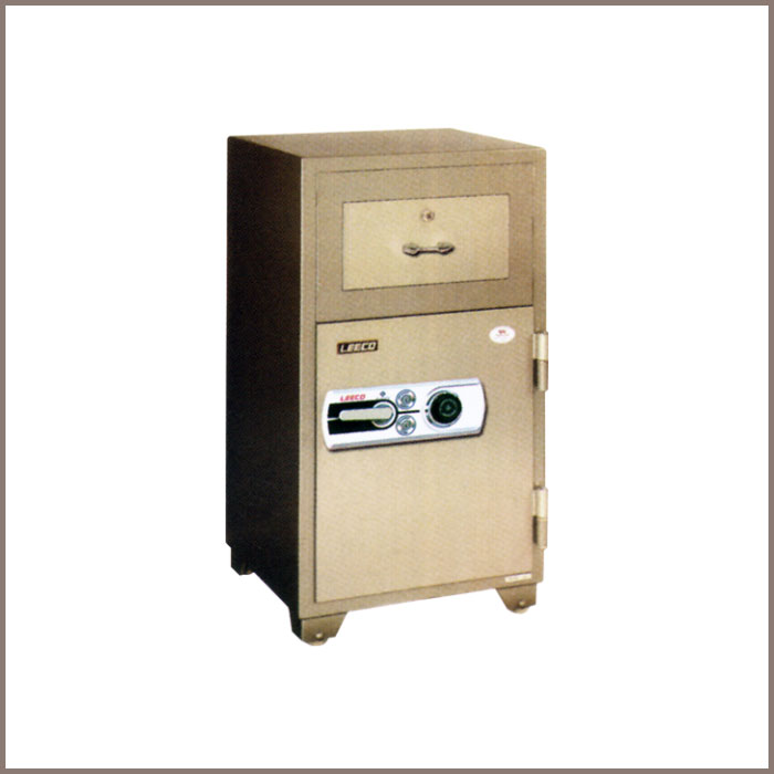 PD-100: 590Wx593Dx1116H, NET WT. : 232 Kgs. CAPACITY : 68 Liters ACCESSORIES : 1 Drawer with key JIS FIRE RATING : 2 Hrs.