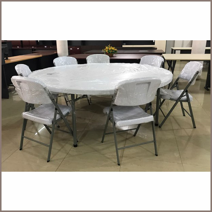 Round Folding Table: W1800xH750