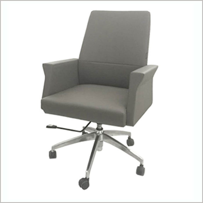 Office Chair F1901B-GREY PU  W660xD670xH1060MM