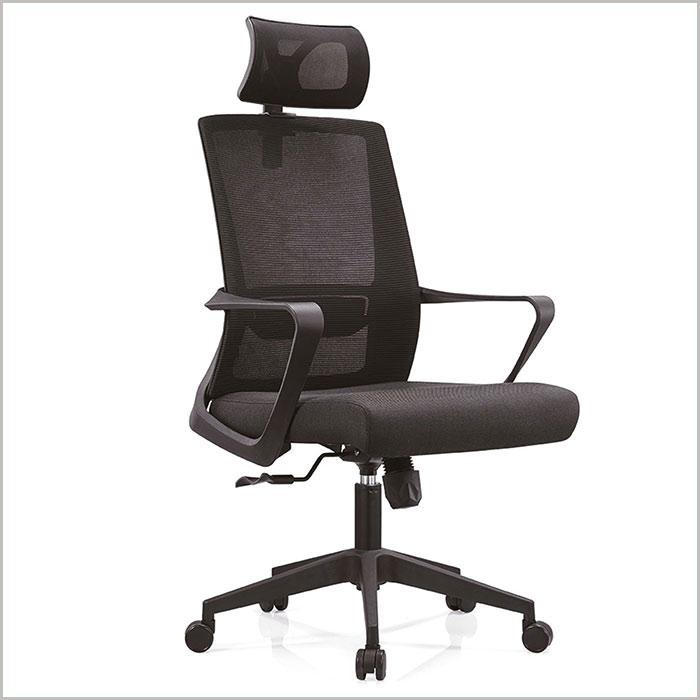 Office Chair W18101A-BLACK  W600xD600xH1180MM