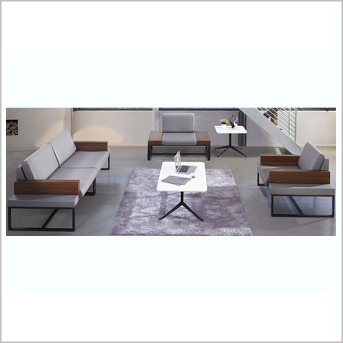 SOFA W18006-GREY PU  3SEATS W2200 X D800 X H790MM)
