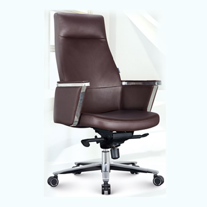 Office Chair F1815A-BROWN PU   W630xD760xH1260MM