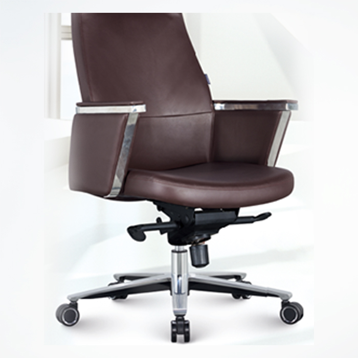 Office Chair F1815B-BROWN PU   W630xD760xH1080MM