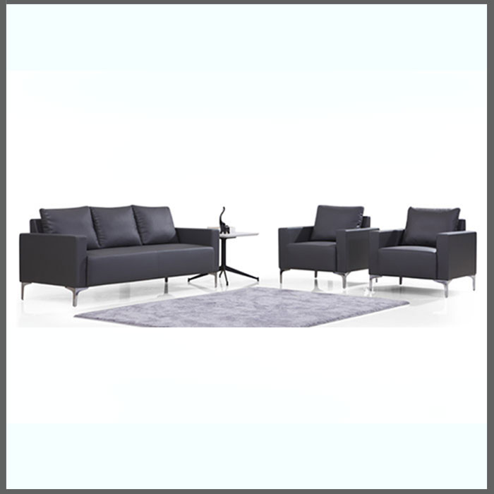 SOFA W18001-GREY PU              1SEAT W780 X D780 X H800MM