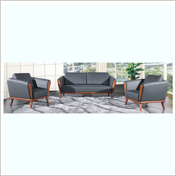 SOFA W18003-BLACK PU​​​    1SEAT W860 X D750 X H860MM